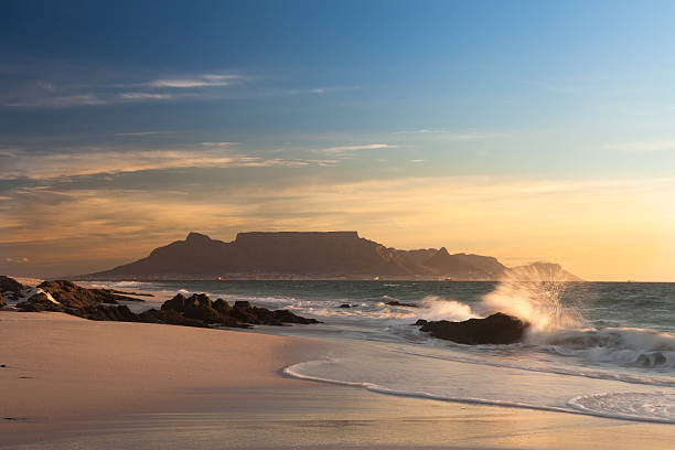 Table Mountain Cape Town south africa stock photo
