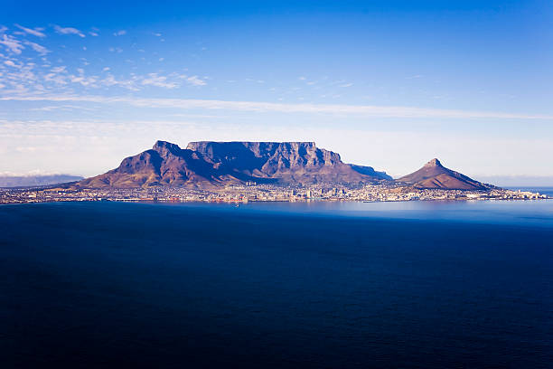 table mountain, cape town, south africa - table mountain national park stock pictures, royalty-free photos & images
