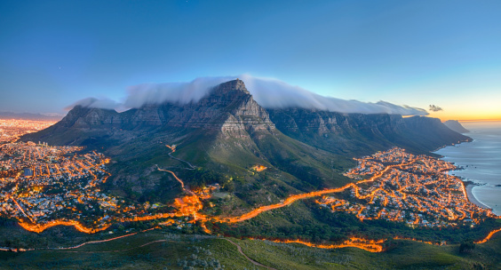 Tafelberg Kapstadt Südafrika Stockfoto und mehr Bilder von Abenddämmerung