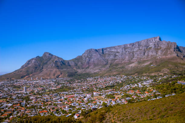 Table Mountain, Cape Town, South Africa stock photo