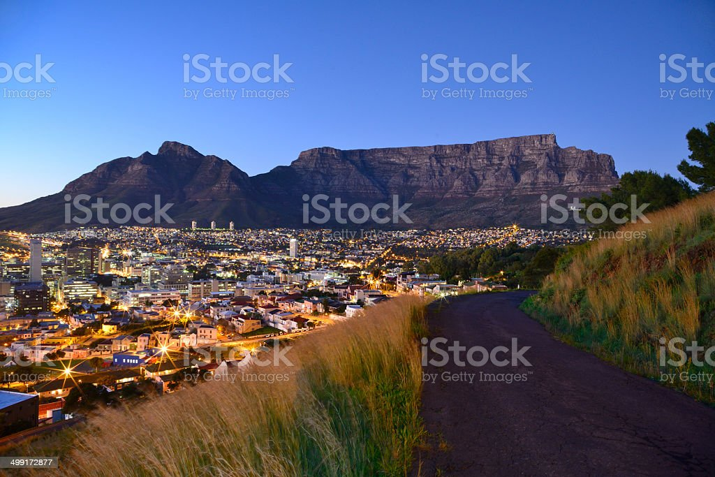 Table Mountain from Military Road stock photo