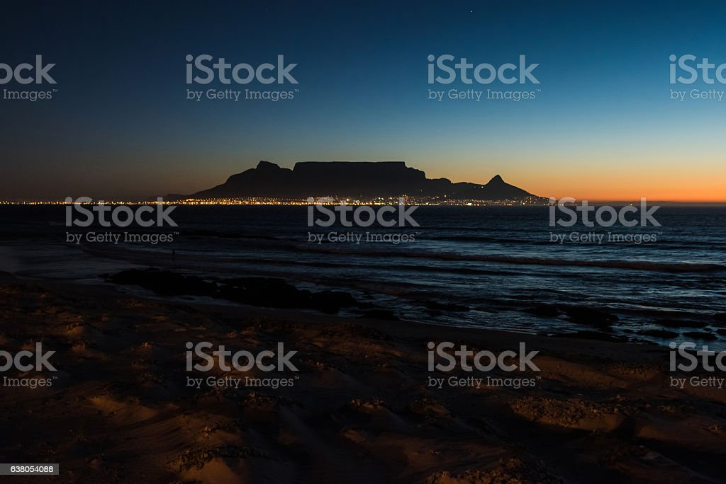 Table Mountain in Cape Town, South Africa stock photo