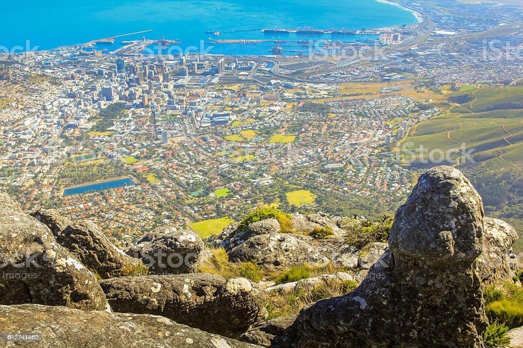 Table Mountain overlook stock photo