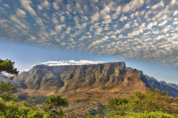 hdr table mountain - table mountain south africa stock pictures, royalty-free photos & images