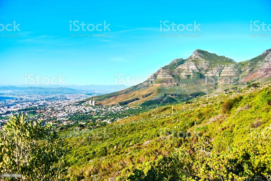 Table mountain view Cape-Town South Africa - Zbiór zdjęć royalty-free (Afryka)