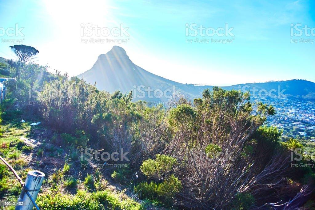 Stół z widokiem na górę Cape-Town Republika Południowej Afryki - Zbiór zdjęć royalty-free (Afryka)