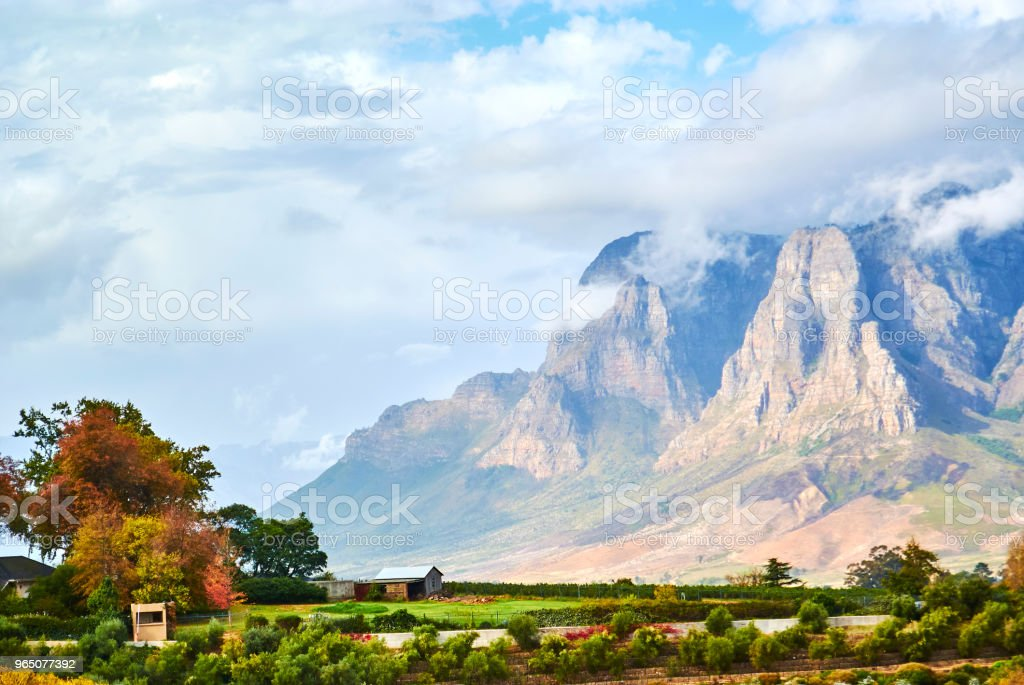 Table mountain view Cape-Town South Africa royalty-free stock photo