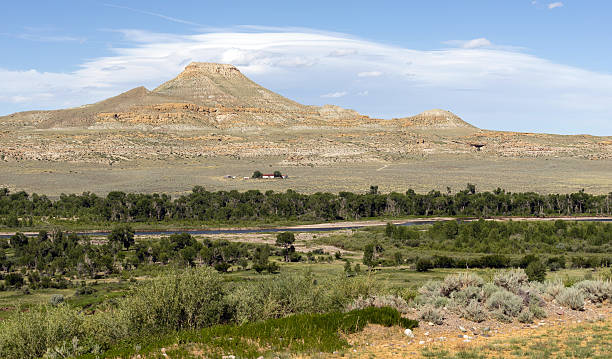 table mountain wind river dubouis wyoing - native american reservation stock photos and pictures