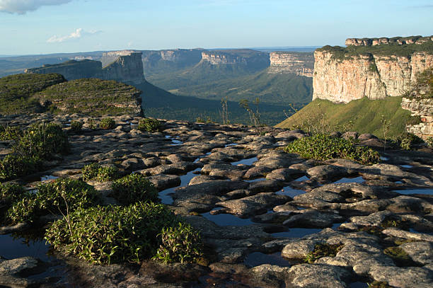 Table Mountains Lencois Chapada Diamantina National Park Bahia Brazil stock photo