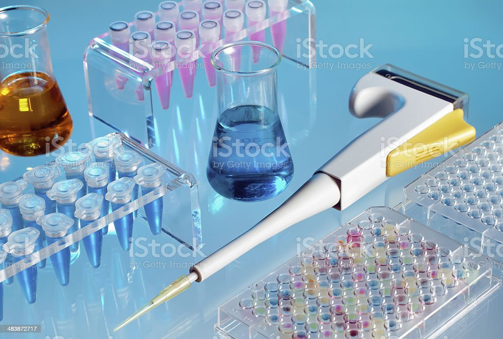 table of a scientific laboratory royalty-free stock photo