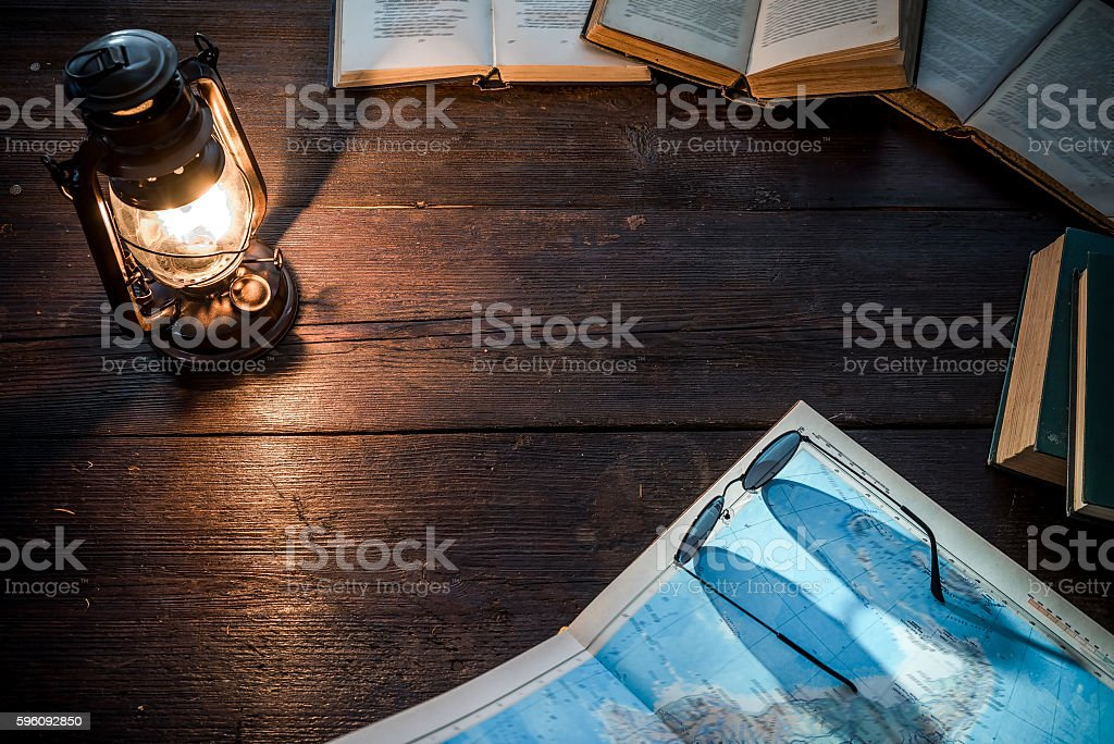 Table of traveller royalty-free stock photo