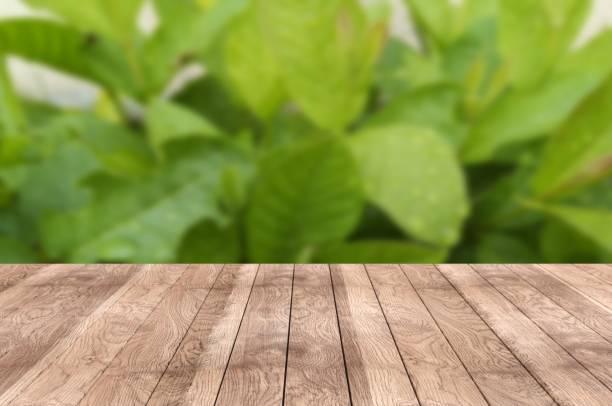 Tisch auf Blumengarten – Foto