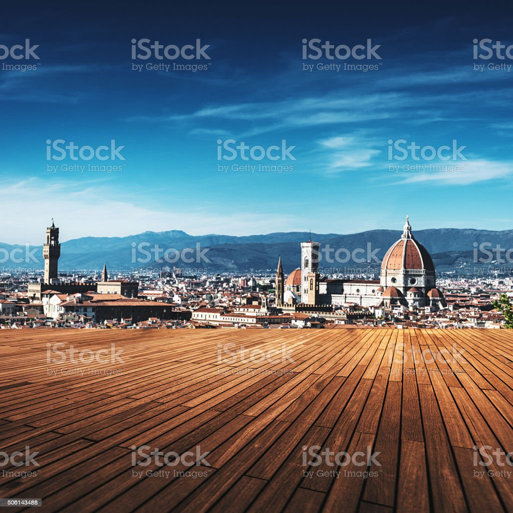 Table on florence stock photo