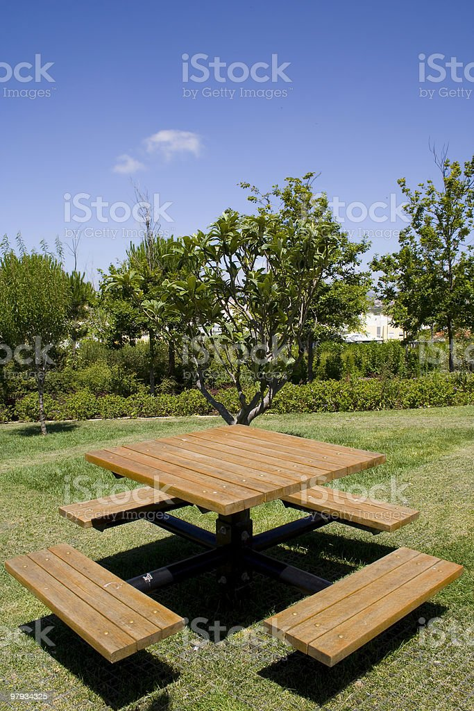Table on the park royalty-free stock photo