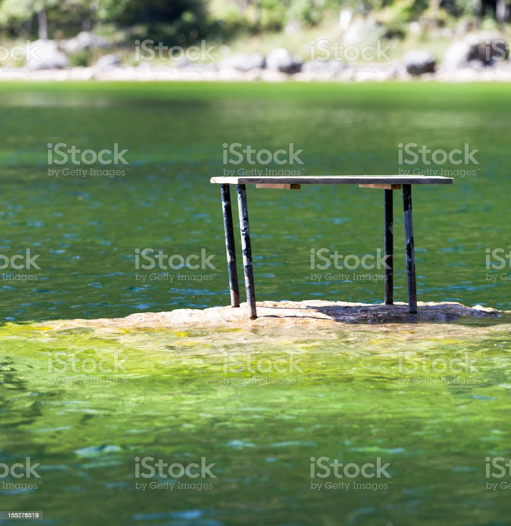 Table on the Water royalty-free stock photo