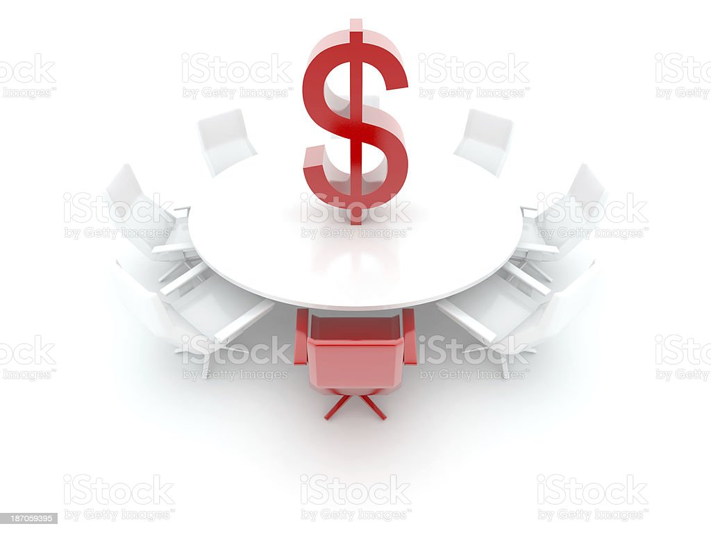 DOLLAR table royalty-free stock photo