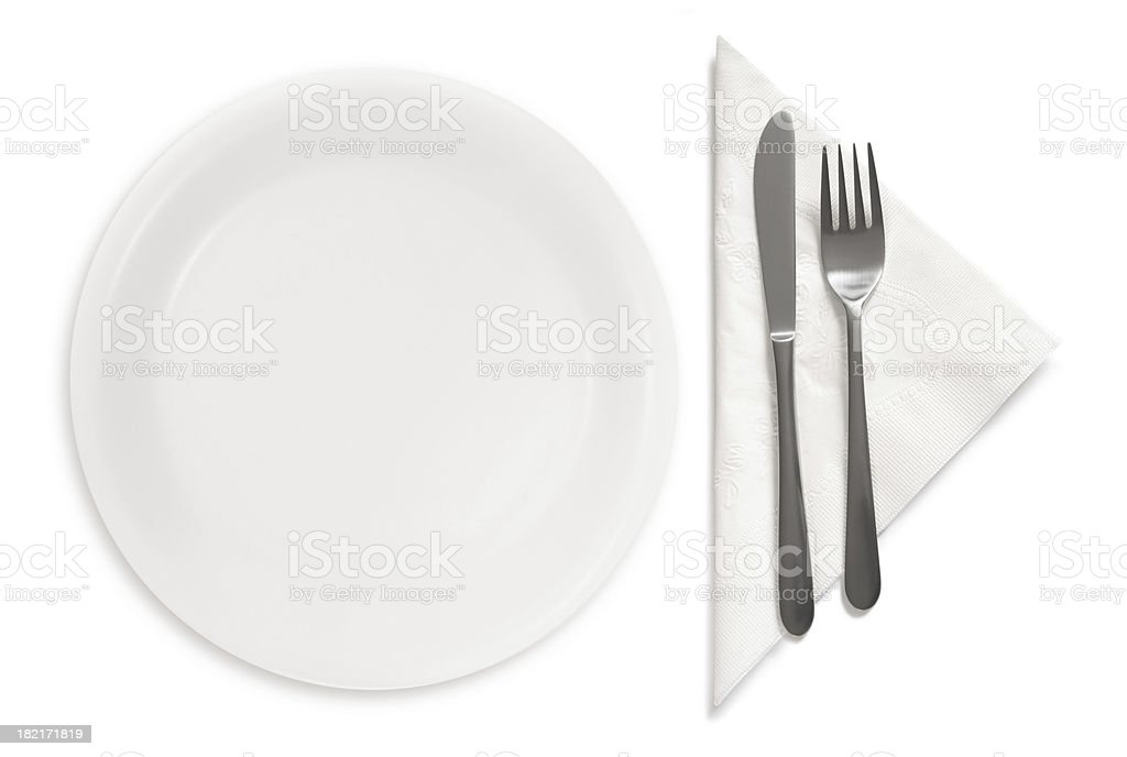 Table place setting royalty-free stock photo