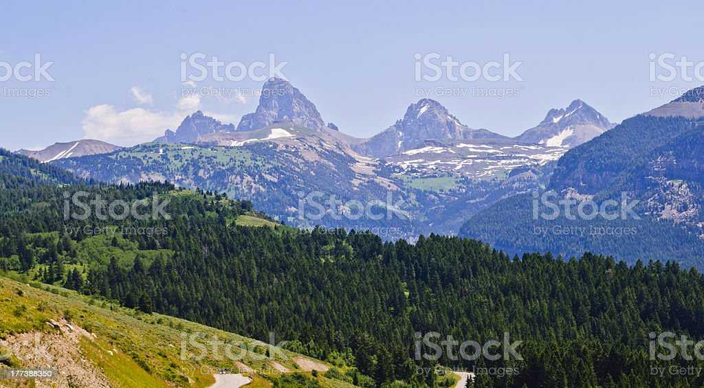 Table Rock and the Tetons stock photo