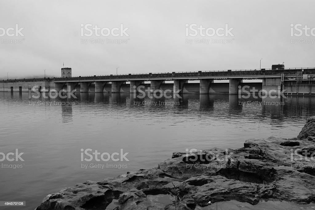 Table Rock Dam stock photo