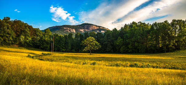 Table Rock Panorama near Greenville South Carolina SC Table Rock State Park Panorama near Greenville South Carolina SC liberty bridge budapest stock pictures, royalty-free photos & images