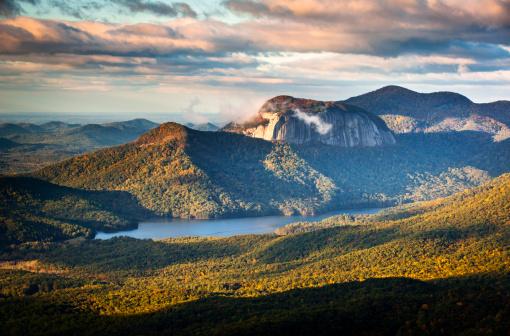 Table Rock State Park South Carolina Blue Ridge Mountains Landscape sunrise morning scenic photography