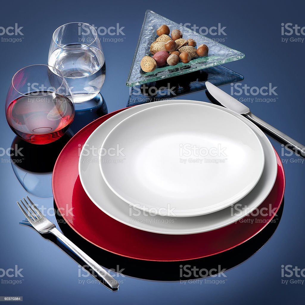 Table set dinner royalty-free stock photo