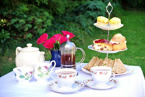Table set for Afternoon Tea for Two
