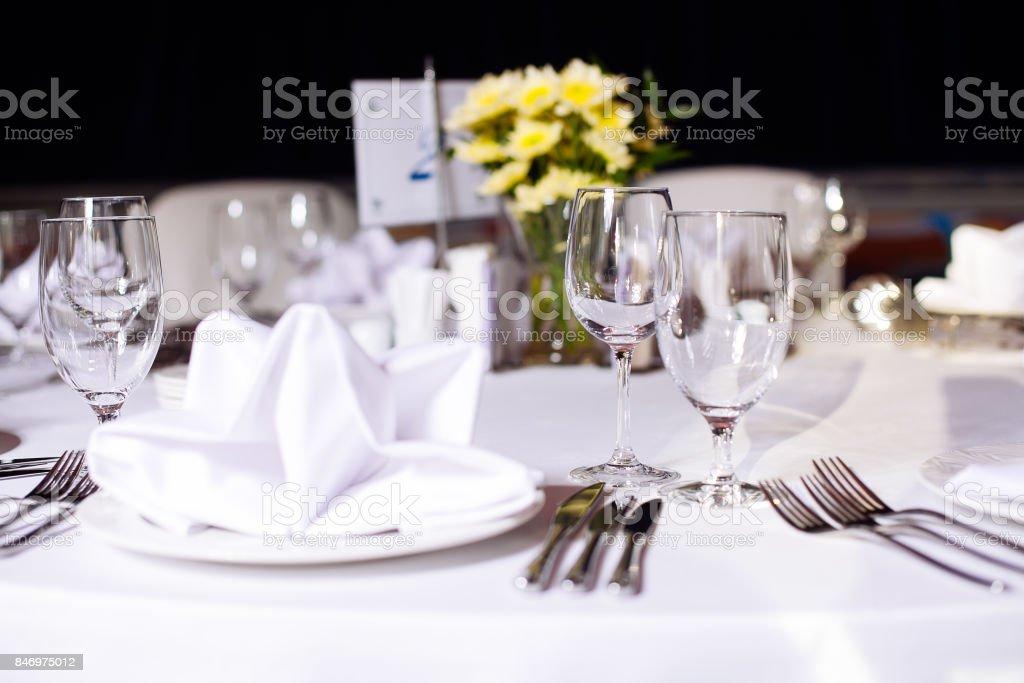 Tisch-set für eine Veranstaltung party oder Hochzeit. – Foto