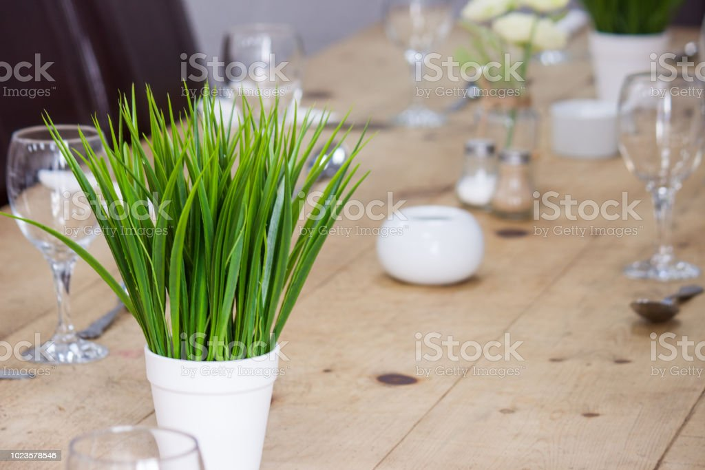 A table set for celebration stock photo