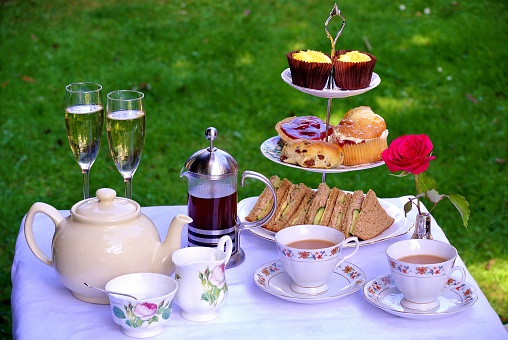 Table set for Champagne Afternoon Tea