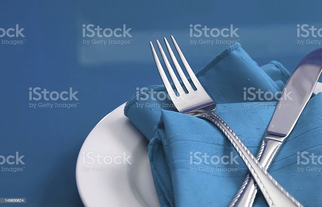 Table Set for One stock photo