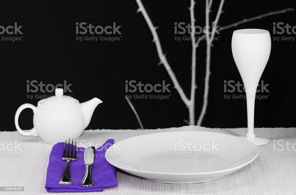 Table Set for One royalty-free stock photo