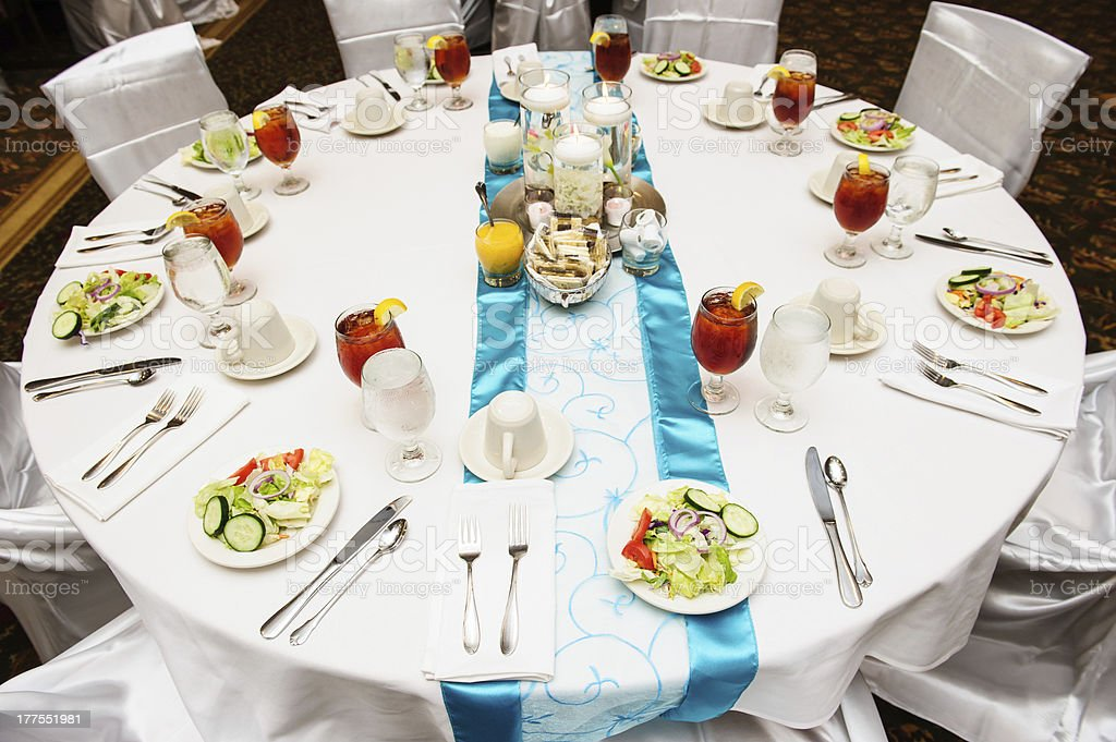 Table set for salad course royalty-free stock photo