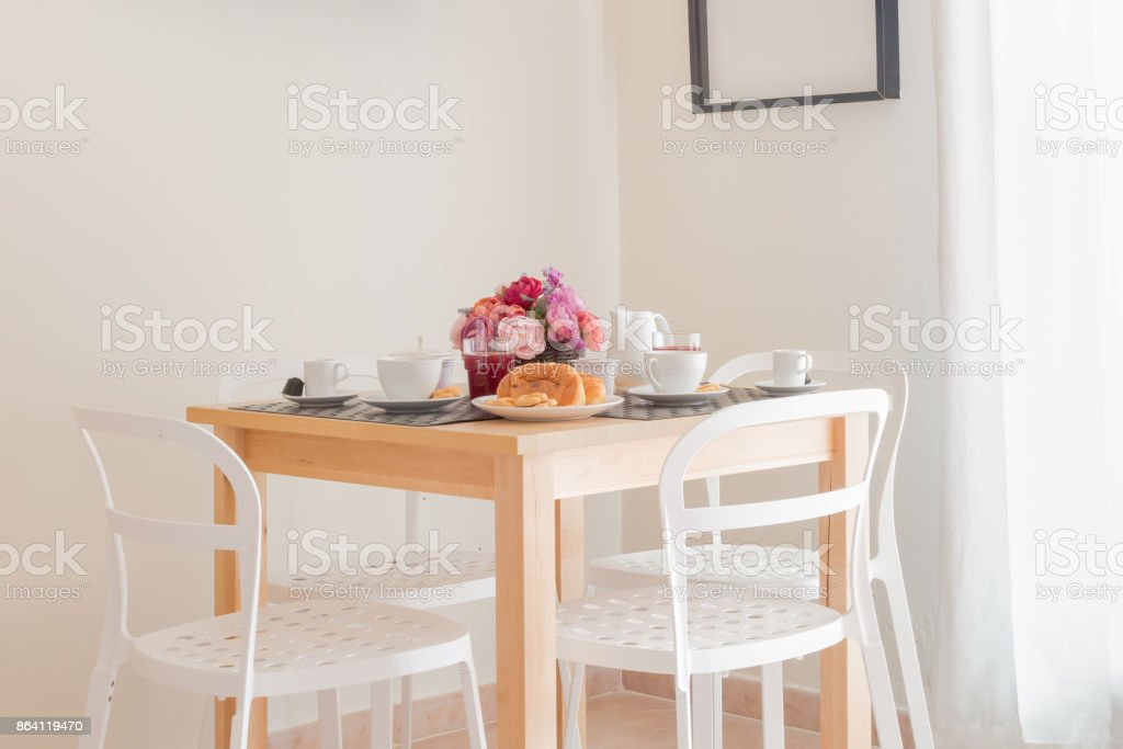 A table set for the breakfast royalty-free stock photo
