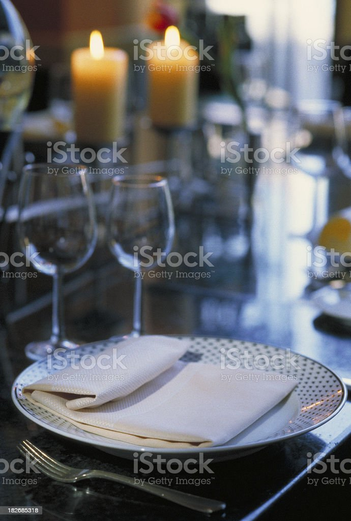 Table Set in Restaurant royalty-free stock photo