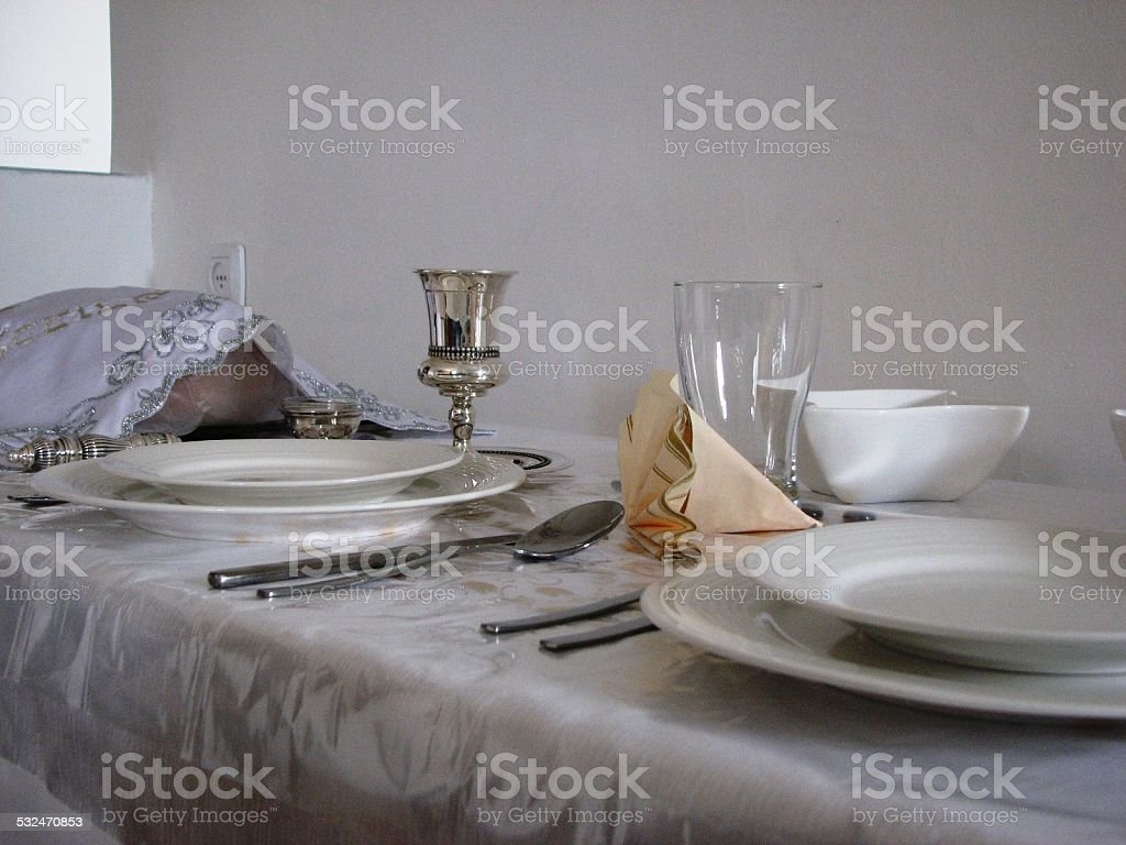 table set stock photo