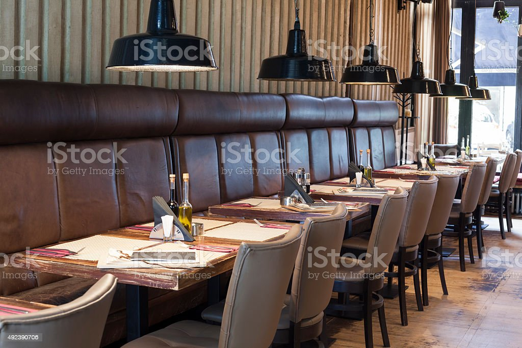 table set up in restaurant interior