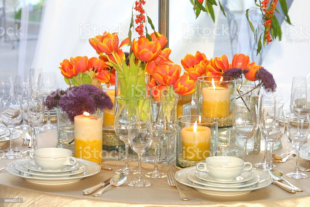table setting 1 royalty-free stock photo
