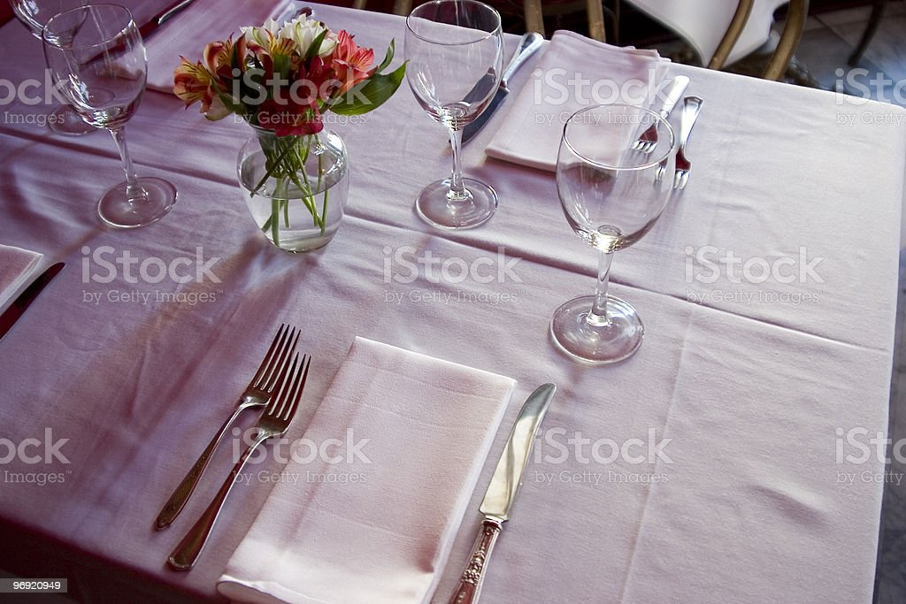 Table Setting 3 royalty-free stock photo