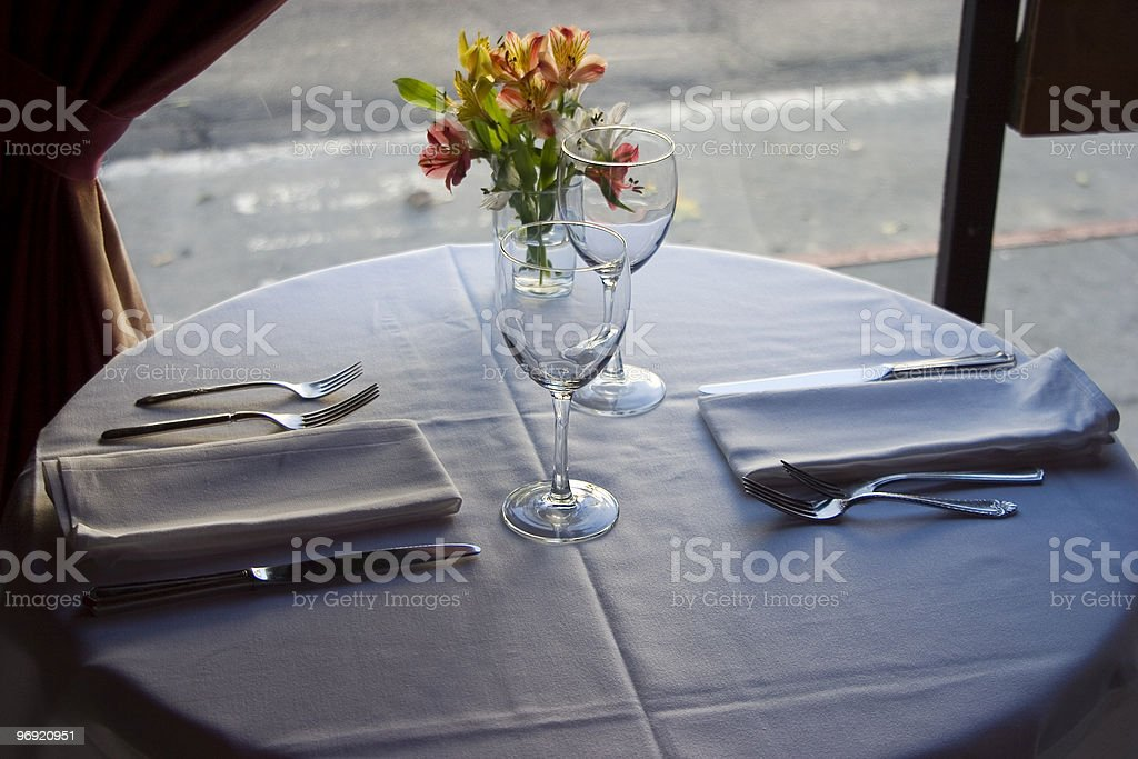 Table Setting 4 royalty-free stock photo