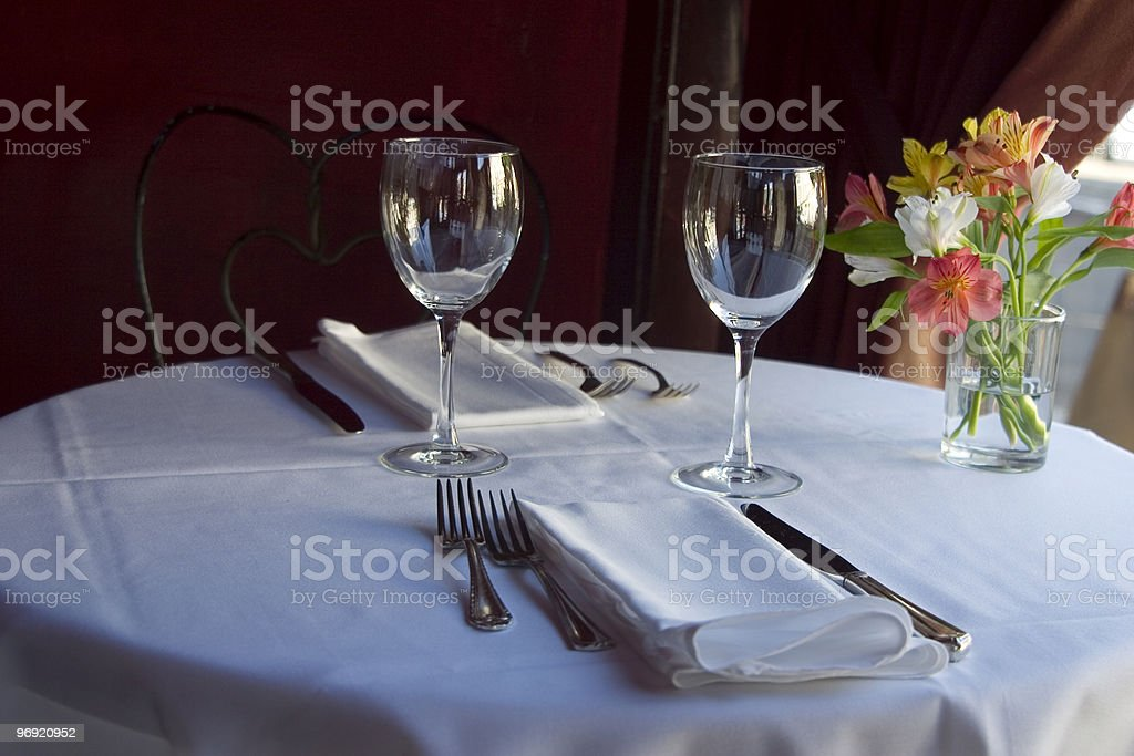 Table Setting 5 royalty-free stock photo