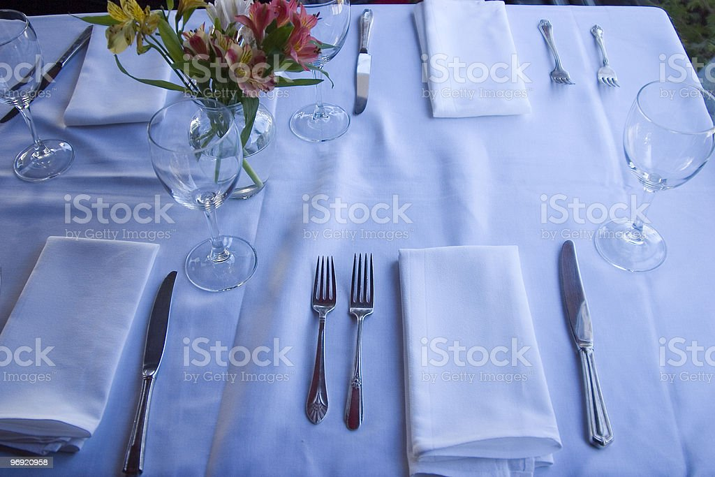 Table Setting 6 royalty-free stock photo