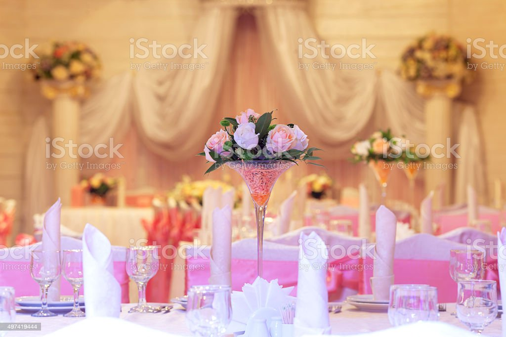 Table Setting At A Luxury Wedding Reception Stock Photo & More ...