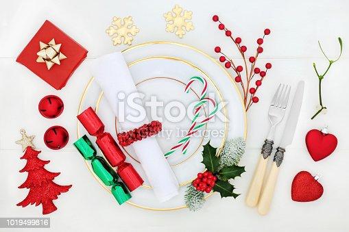 istock Table Setting at Christmas 1019499816