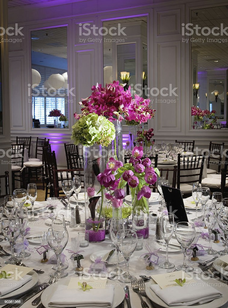 Table setting at reception royalty-free stock photo