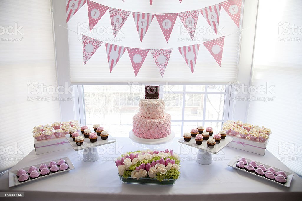Table setting for a Birthday Party royalty-free stock photo & Table Setting For A Birthday Party Stock Photo u0026 More Pictures of ...