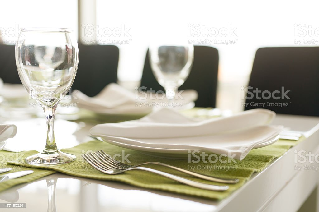 Table Setting for a Business Lunch stock photo