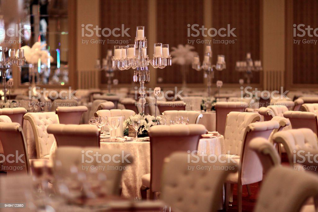 Table setting for an event - Zbiór zdjęć royalty-free (Aranżować)