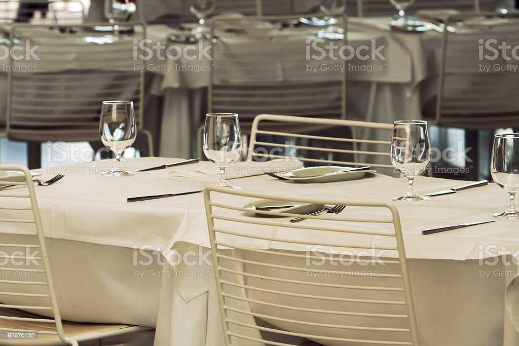 Table setting in a restaurant. royalty-free stock photo