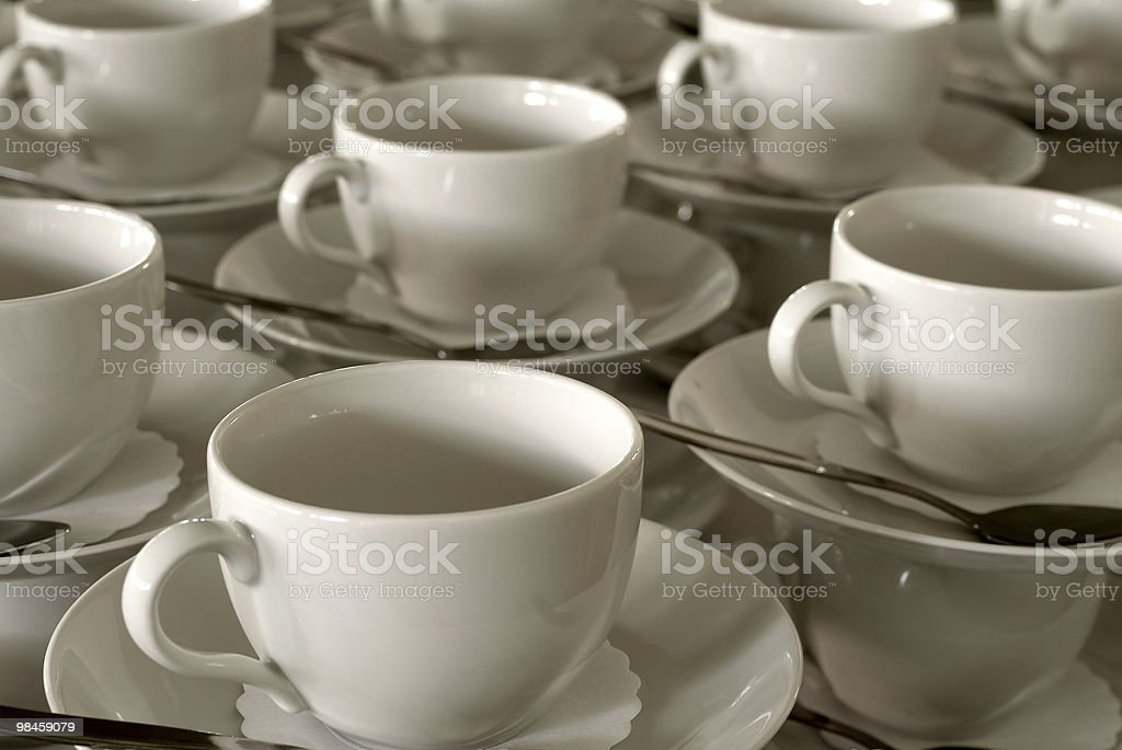Table setting in the restaurant royalty-free stock photo